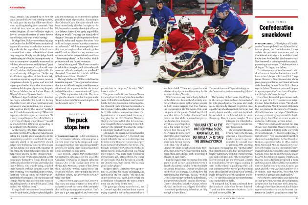 Article Preview: The puck stops here, APRIL 2017 | Maclean's
