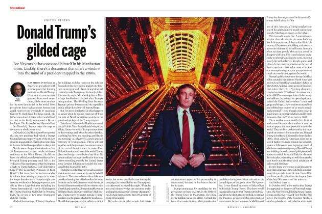 Article Preview: Donald Trump's gilded cage, MAY 2017 2017 | Maclean's
