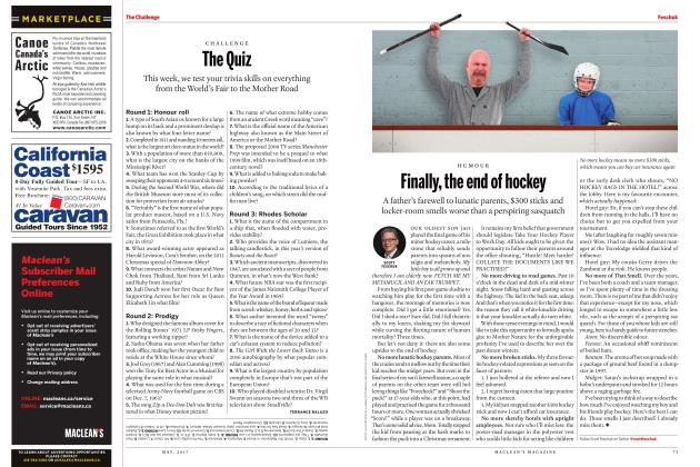 Article Preview: Finally, the end of hockey, MAY 2017 2017 | Maclean's