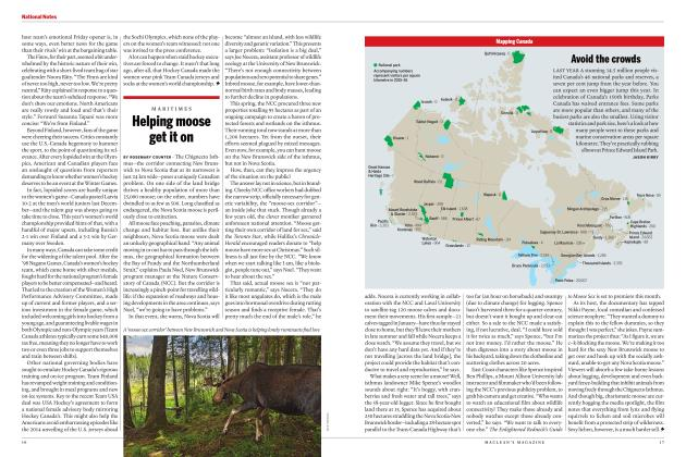 Article Preview: Helping moose get it on, MAY 2017 | Maclean's
