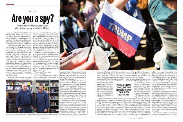 Article Preview: Are you a spy?, AUGUST 2017 | Maclean's