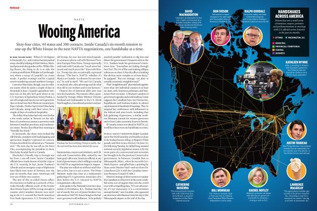 Article Preview: Wooing America, SEPTEMBER 2017 | Maclean's