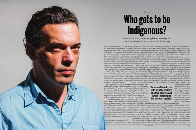 Article Preview: Who gets to be Indigenous?, SEPTEMBER 2017 2017 | Maclean's