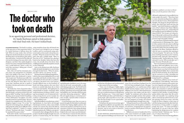 Article Preview: The doctor who took on death, SEPTEMBER 2017 | Maclean's