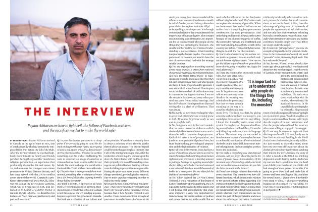 Article Preview: THE INTERVIEW, OCTOBER 2017 2017 | Maclean's
