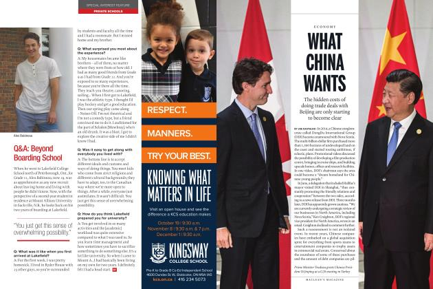 Article Preview: WHAT CHINA WANTS, OCTOBER 2017 2017 | Maclean's