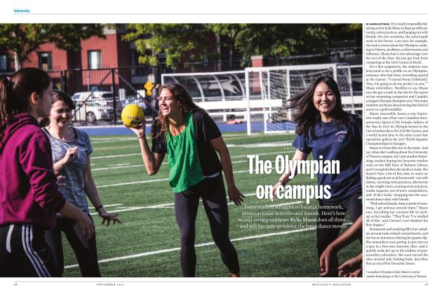 Article Preview: The Olympian on campus, NOVEMBER 2017 | Maclean's
