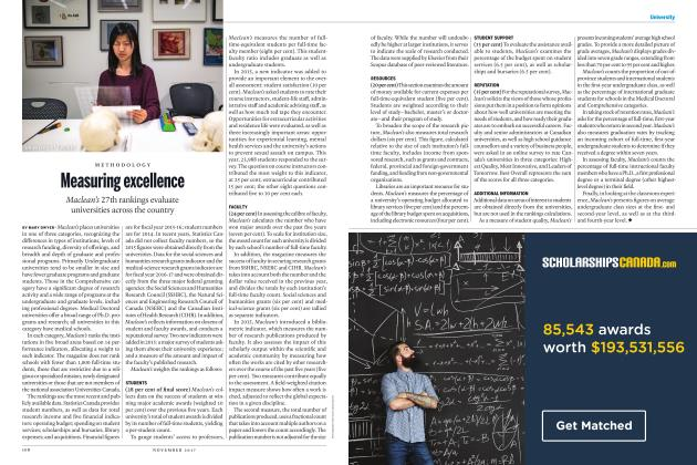 Article Preview: Measuring excellence, NOVEMBER 2017 | Maclean's