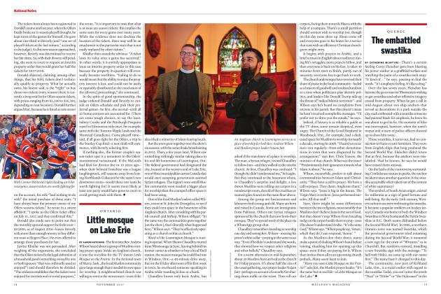 Article Preview: Little mosque on Lake Erie, NOVEMBER 2017 | Maclean's