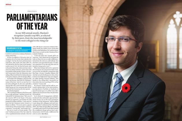 Article Preview: PARLIAMENTARIANS OFTHEYEAR, DECEMBER 2017 2017 | Maclean's