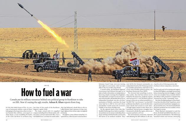 Article Preview: How to fuel a war, DECEMBER 2017 | Maclean's