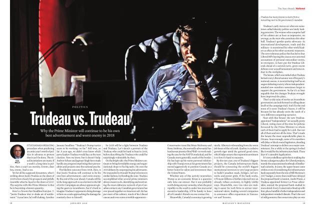 Article Preview: Trudeau vs. Trudeau, JANUARY 2018 | Maclean's