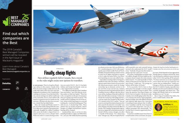 Article Preview: Finally, cheap flights, JANUARY 2018 | Maclean's