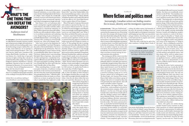 Article Preview: WHAT'S THE ONE THING THAT CAN DEFEAT THE AVENGERS?, JANUARY 2018 | Maclean's