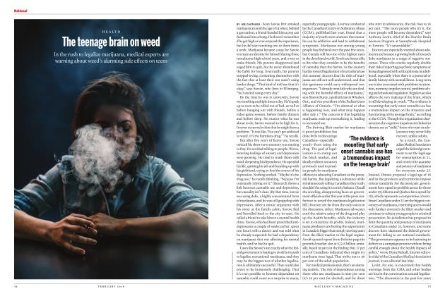 Article Preview: The teenage brain on weed, FEBRUARY 2018 | Maclean's