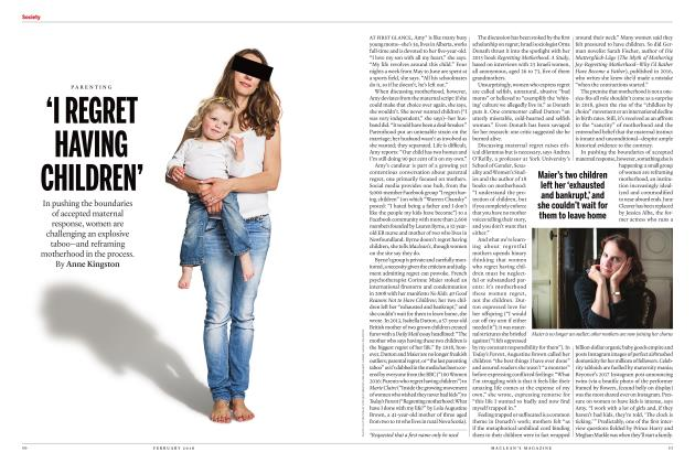Article Preview: 'I REGRET HAVING CHILDREN', FEBRUARY 2018 | Maclean's