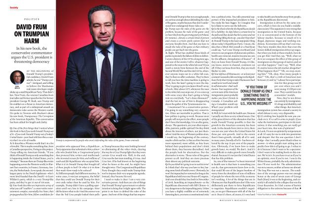 Article Preview: DAVID FRUM ON TRUMPIAN HARM, FEBRUARY 2018 | Maclean's