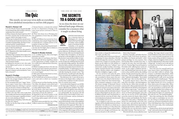 Article Preview: THE SECRETS TO A GOOD LIFE, FEBRUARY 2018 | Maclean's