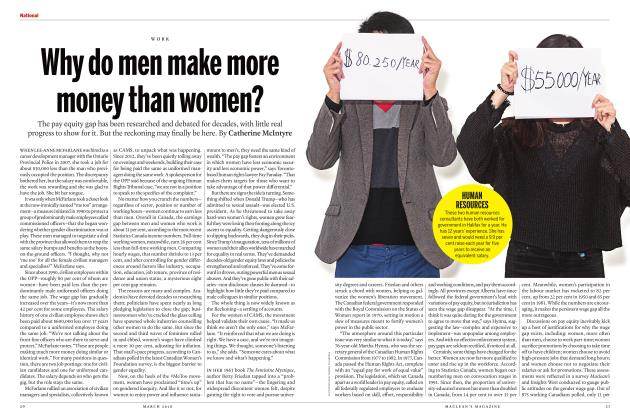 Article Preview: Why do men make more money than women?, MARCH 2018 | Maclean's