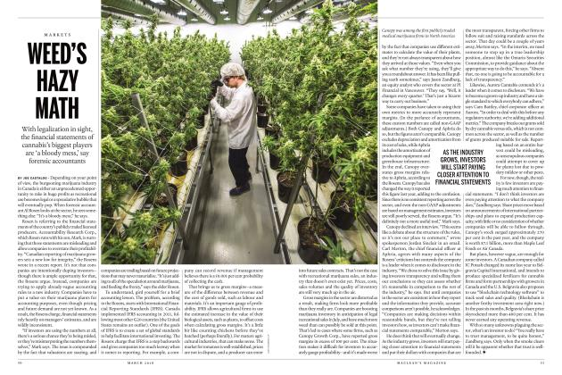 Article Preview: WEED'S HAZY MATH, MARCH 2018 | Maclean's