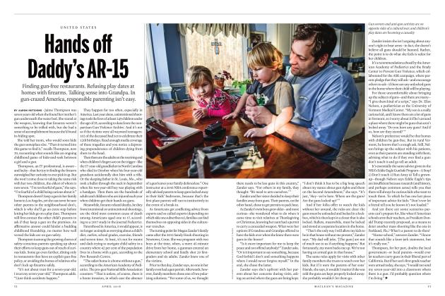 Article Preview: Hands off Daddy's AR-15, APRIL 2018 | Maclean's