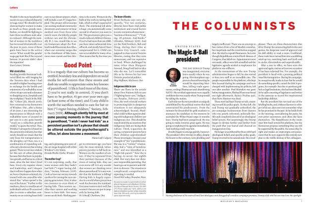 Article Preview: The Magic 8-Ball president, APRIL 2018 | Maclean's