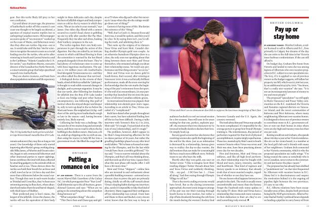 Article Preview: Putting a romance on ice, APRIL 2018 | Maclean's