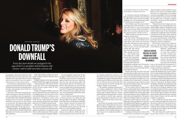 Article Preview: DONALD TRUMP'S DOWNFALL, MAY 2018 | Maclean's