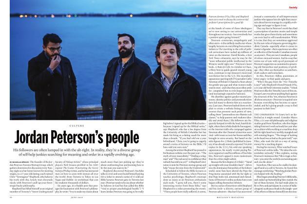 Article Preview: Jordan Peterson's people, June 2018 | Maclean's
