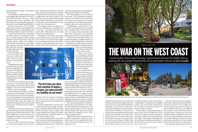 Article Preview: THE WAR ON THE WEST COAST, JULY 2018 | Maclean's