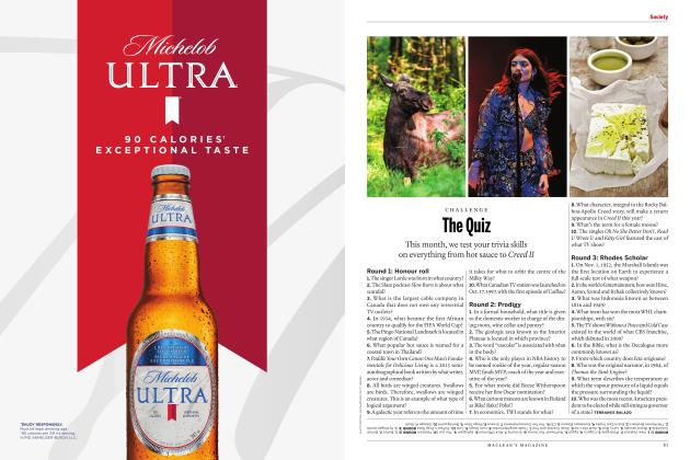 Article Preview: The Quiz, JULY 2018 | Maclean's