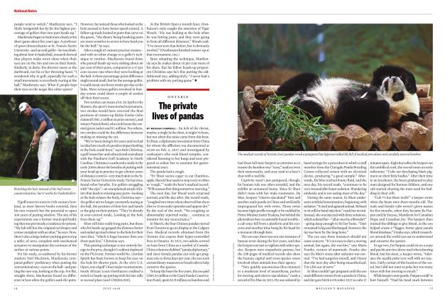 Article Preview: The private lives of pandas, JULY 2018 | Maclean's