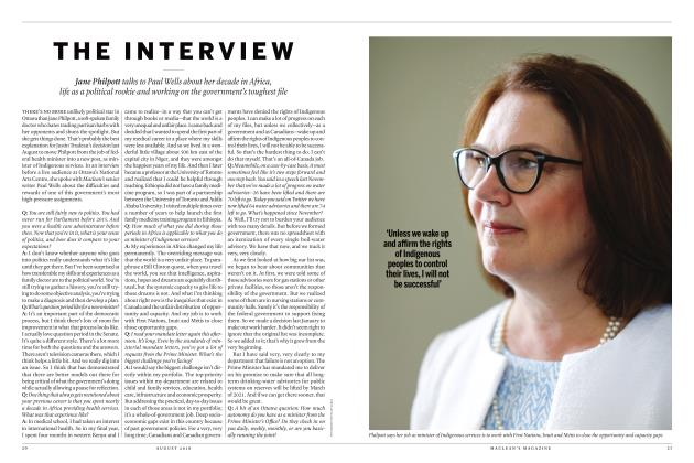 Article Preview: THE INTERVIEW, AUGUST 2018 | Maclean's