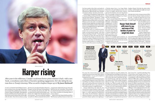 Article Preview: Harper rising, AUGUST 2018 | Maclean's