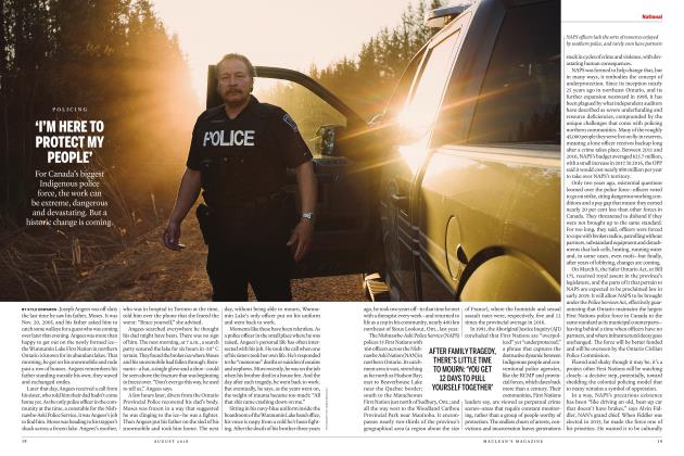 Article Preview: 'I'M HERE TO PROTECT MY PEOPLE', AUGUST 2018 | Maclean's