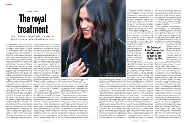 Article Preview: The royal treatment, AUGUST 2018 | Maclean's