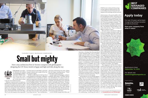 Article Preview: Small but mighty, AUGUST 2018   Maclean's