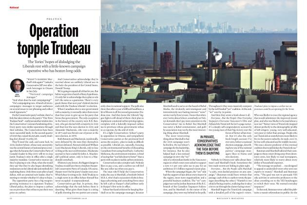 Article Preview: Operation topple Trudeau, SEPTEMBER  2018 | Maclean's