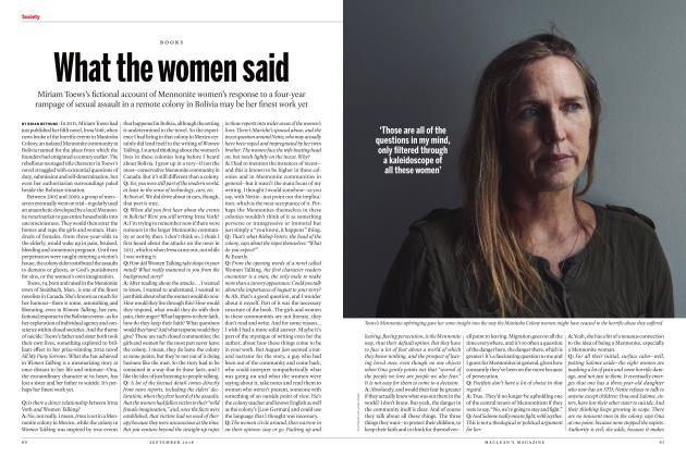 Article Preview: What the women said, SEPTEMBER  2018 | Maclean's