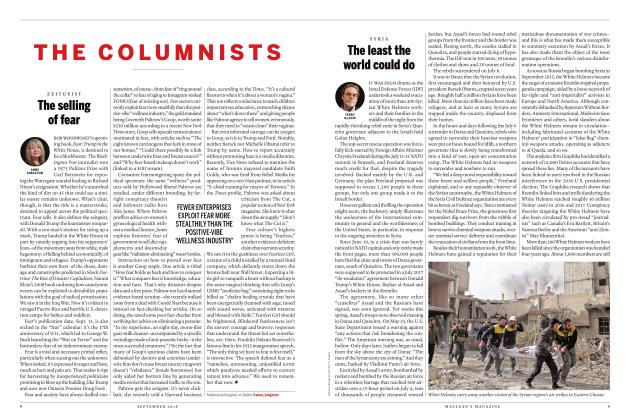 Article Preview: The least the world could do, SEPTEMBER  2018 | Maclean's