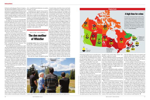 Article Preview: A high time for crime, SEPTEMBER  2018 | Maclean's