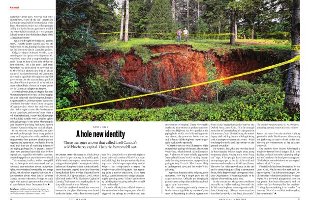 Article Preview: A hole new identity, OCTOBER 2018 | Maclean's