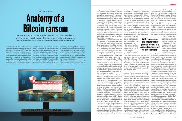 Article Preview: Anatomy of a Bitcoin ransom, OCTOBER 2018 2018 | Maclean's
