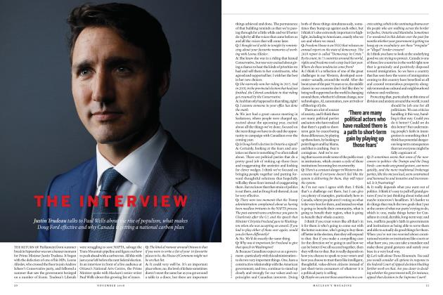 Article Preview: THE INTERVIEW, NOVEMBER 2018 | Maclean's