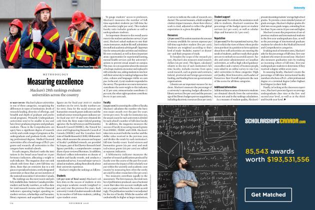 Article Preview: Measuring excellence, NOVEMBER 2018 | Maclean's