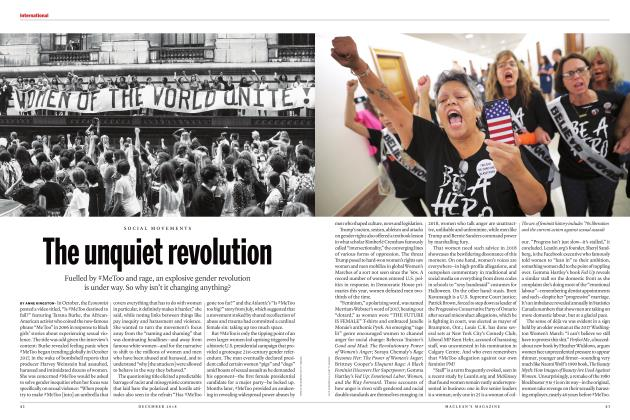 Article Preview: The unquiet revolution, DECEMBER 2018 | Maclean's