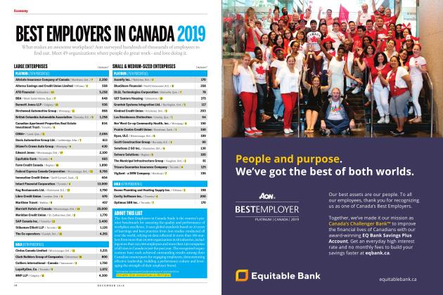 Article Preview: BEST EMPLOYERS IN CANADA 2019, DECEMBER 2018 | Maclean's