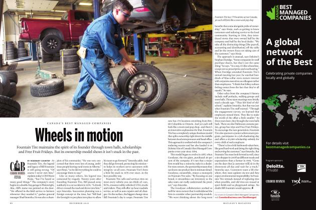 Article Preview: Wheels in motion, DECEMBER 2018 | Maclean's