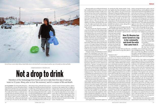 Article Preview: Not a drop to drink, FEBRUARY 2019 | Maclean's