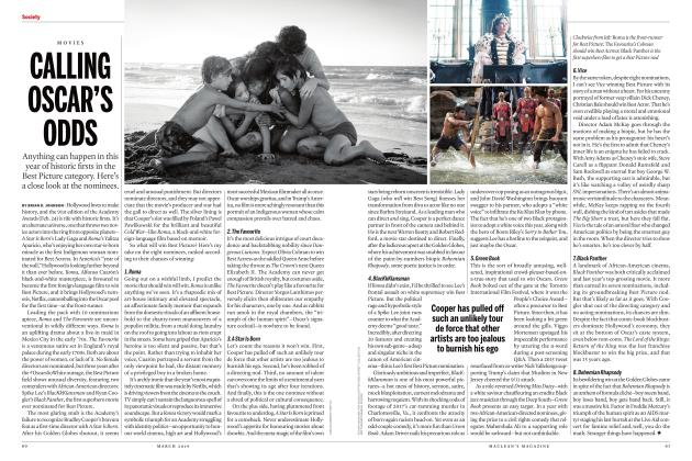 Article Preview: CALLING OSCAR'S ODDS, MARCH 2019 | Maclean's